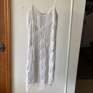 Adjustable Fringe Flapper Sequin Dress